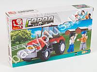 Конструктор SLUBAN Ферма, трактор, фигурки, 103 дет, в кор-ке