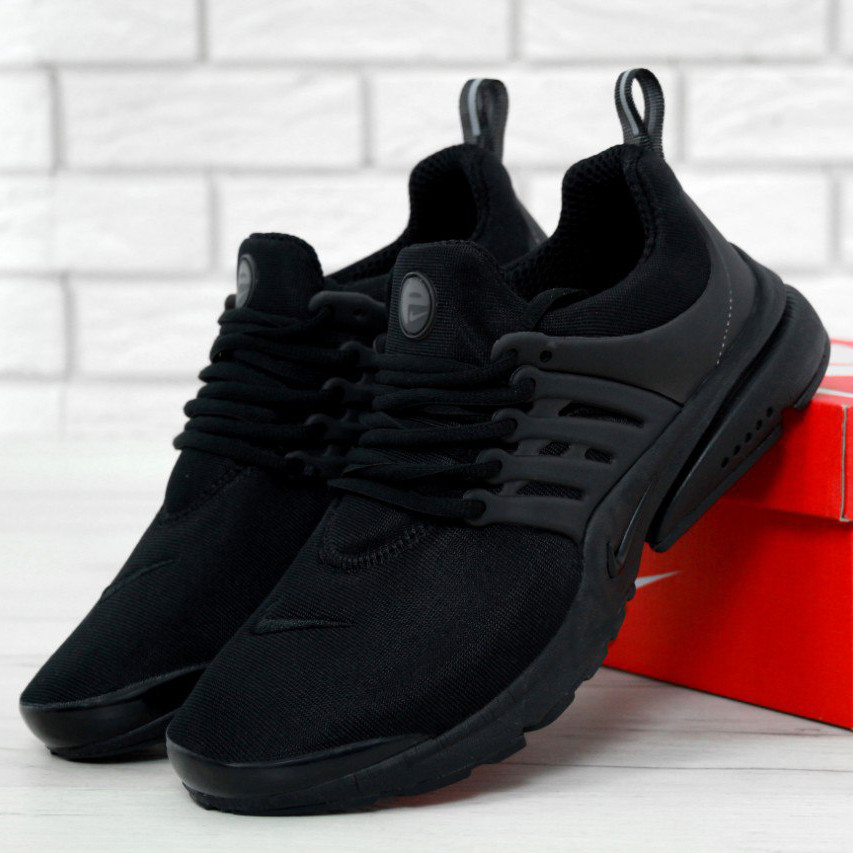Nike Air Presto Fleece Triple Black  (реплика)