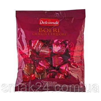 Конфеты шоколадные с вишней в ликере  Dolciando Ciliegia e Liquore 200г Италия