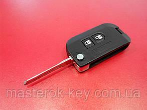 Заготовка выкидного ключа NISSAN QASHQAI / MICRA 2 кнопки, 312# / 311#