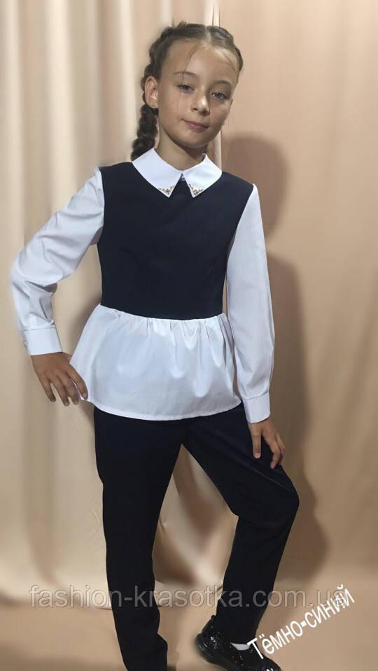 """Модный брючный костюм """"Школа """" в размерах 128;134;140;146"""