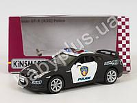 Hoku Машинка метал KINSMART инер-я, 1:36 NISSAN GT-R 2009 R35 POLICE, резиновые колеса, открыв двери, в кор-ке