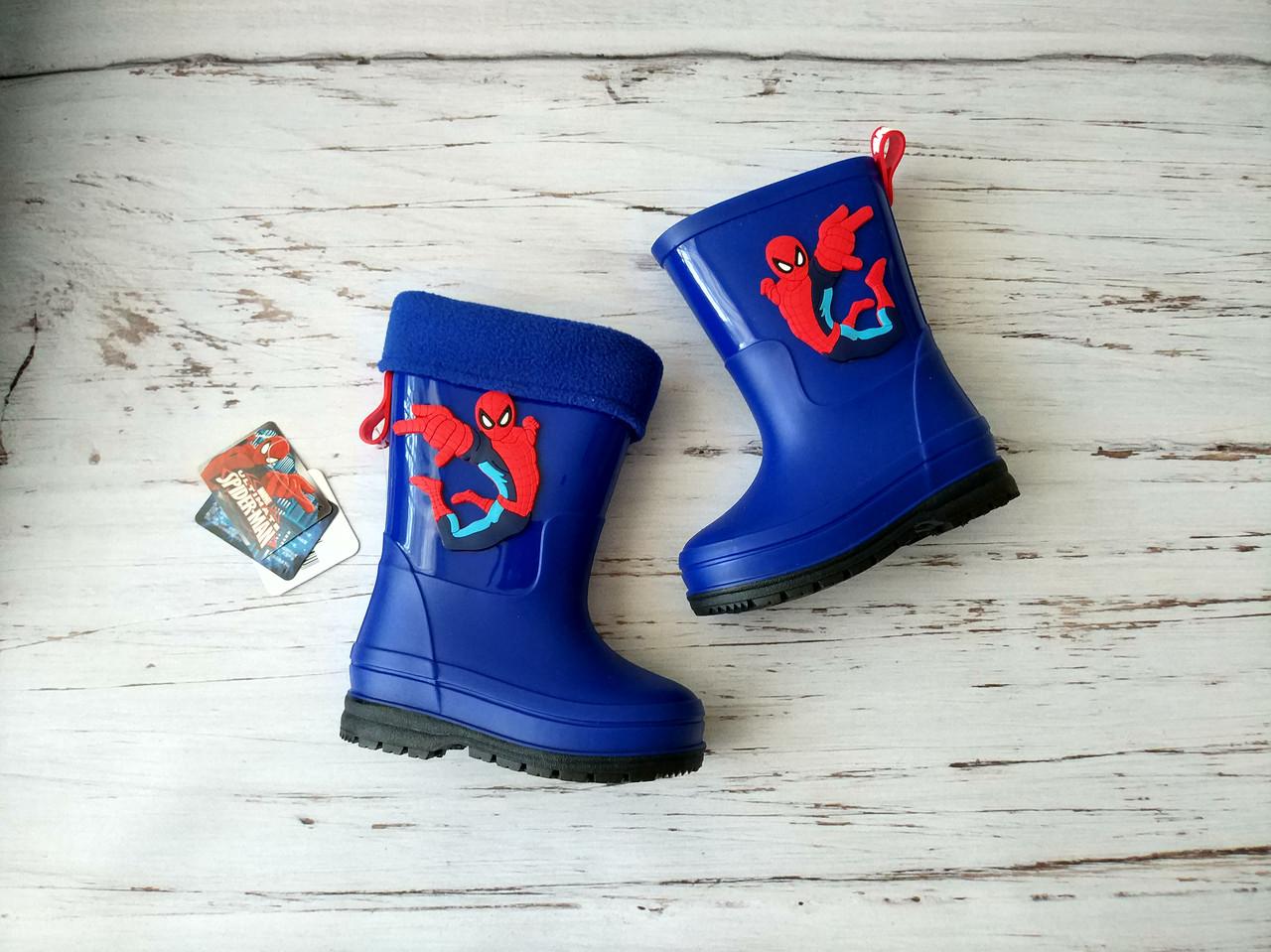 Резиновые сапоги для мальчиков, голубые marvel Spider-man