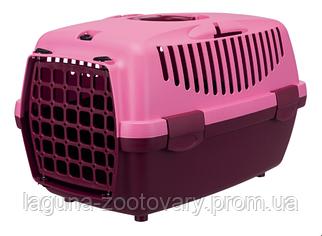 Переноска Капри-1  32*31*48см до 6кг, ягодный/розовый для собак и кошек