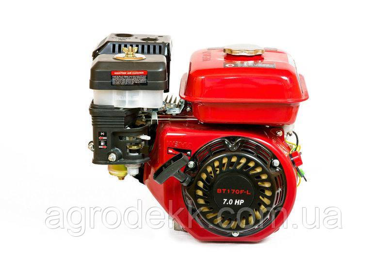 Двигатель бензиновый Weima BT170F-L (R) с редуктором (шпонка, вал 20мм, 1800 об/мин) 7.5 л.с,