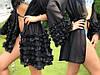 """Женский мини халат """"VALENSIA"""" с рюшами на рукавах или юбке. МА-1-0718, фото 2"""