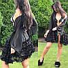 """Женский мини халат """"VALENSIA"""" с рюшами на рукавах или юбке. МА-1-0718, фото 3"""