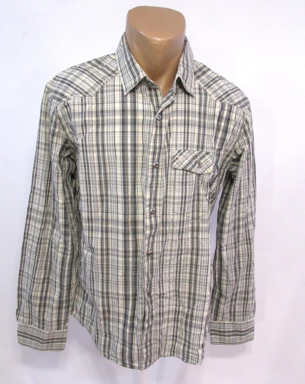 Рубашка винтажная Wrangler, 41 (M), Хлопок, Отл. сост!