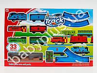 Железная дорога, локомотив-звук, свет, 5 вагонов, на бат-ке, в кор-ке