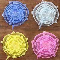 Силиконовые крышки для посуды (набор 6 шт), фото 1