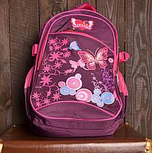 Рюкзак шкільний 856 з метеликами для дівчаток
