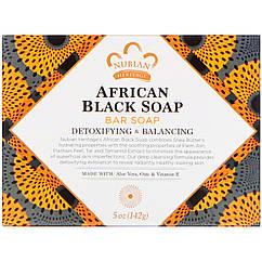 Африканское черное мыло кусковое, 142 г  Nubian Heritage