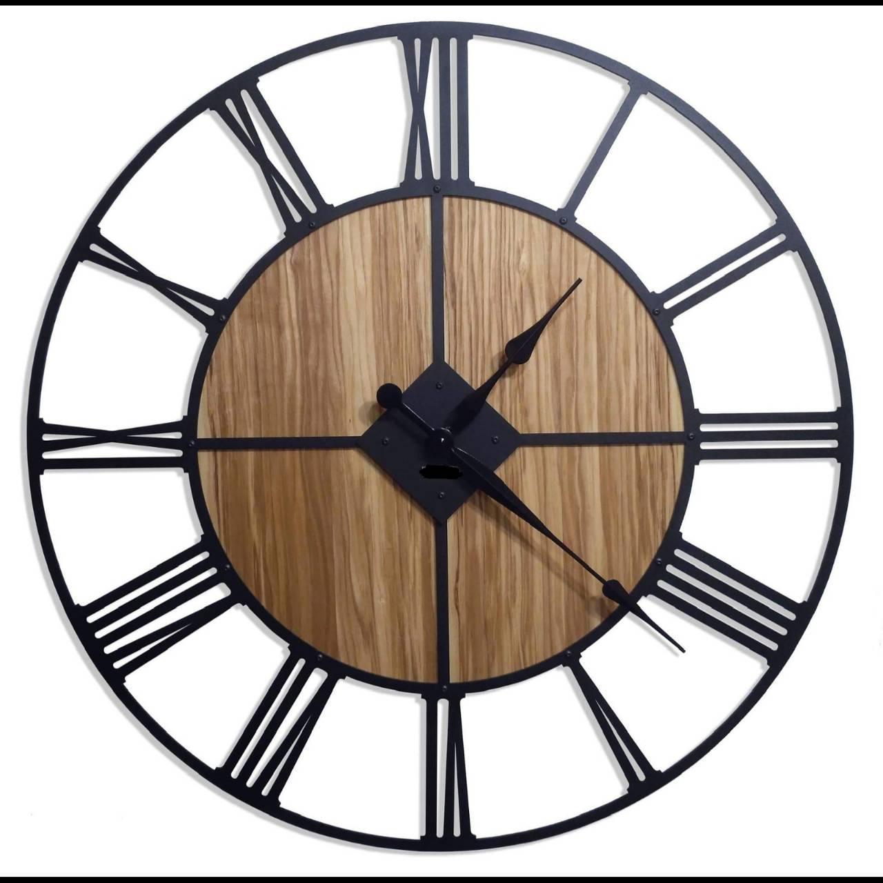 Металлические Часы, Орех, Диаметр-60см