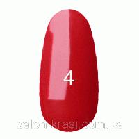 Гель лак Kodi №004 Темно-красный, эмаль 12 мл