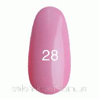 Гель лак Kodi №028 Классический розовый, эмаль 12 мл
