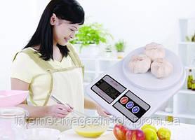 Электронные кухонные весы SF-400 на 7кг + Батарейки, Качество