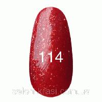 Гель лак Kodi №114 Красный с плотным блеском 12мл