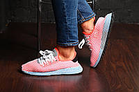 "Мужские кроссовки Adidas Originals Deerupt Runner ""Solar/Red/Blue"" (Реплика AAA+)"