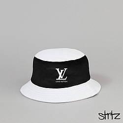 Панама Louis Voitton белого и черного цвета (люкс копия)