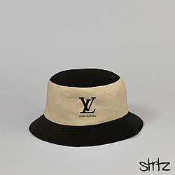 Панама Louis Voitton черного и бежевого цвета (люкс копия)