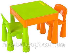 Комплект дитячих меблів Tega Baby Mamut стіл і 2 стільці Green/Orange