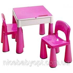 Комплект дитячих меблів Tega Baby Mamut стіл і 2 стільці Pink