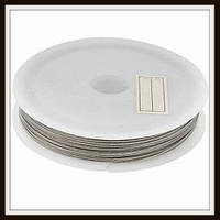 Ланка (ювелирный тросик) диам. 0,38 мм цвет серебро (10 шт)
