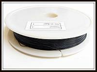 Ланка (ювелирный тросик) диам. 0,38 мм цвет черный (10 шт)