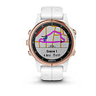 Garmin Fenix 5S Plus Sapphire, Rose Gold with Carrara , фото 2