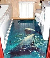 Наливные полы ванных комнат , фото 1