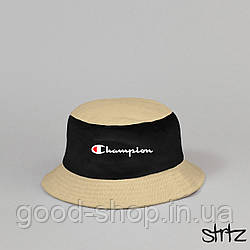 Панама Champion черного и бежевого цвета (люкс копия)
