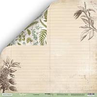 Бумага для скрапбукинга Cozy Forest, Страница, 30х30 см
