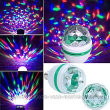 Светодиодная вращающаяся диско лампа LED Full Color Rotating Lamp Mini Party Light, Качество