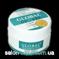 Белый гель для наращивания Global 15 г