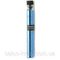Песок для украшения ногтей Mileo Ярко-синий