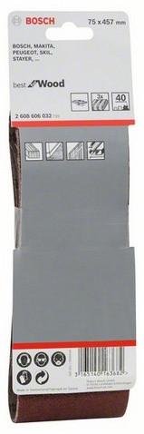 Шліфстрічка 75х457мм К 40 BOSCH (3шт)