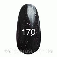 Гель лак Kodi № 170 Черный с пурпурными блестками 7 мл