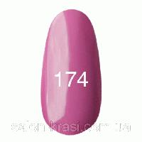 Гель лак Kodi № 174 Розовато-лиловый, эмаль 7 мл