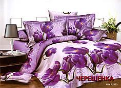 Евро набор постельного белья 200*220 из Полисатина №014 Черешенка™