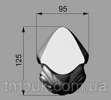 Ножка для стола деревянная резная. Кабриоль со скругленным основанием и углом 90 градусов. 730 мм., фото 3