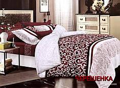 Полуторный набор постельного белья из Полисатина №019 Черешенка™