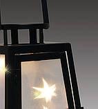 Фонарь 25 см, черный, голограф. эффект, металл, фото 2
