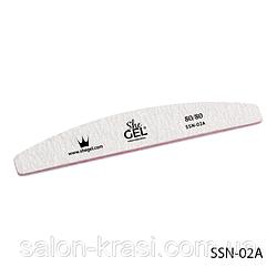 SSN-02A Пилка полумесяц 80/80 She Gel