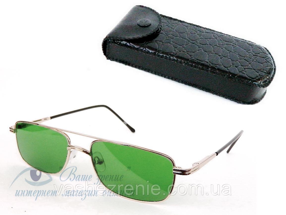 Очки глаукомные, мужские (СТЕКЛО!) Код 5133
