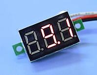 Вольтметр цифровой DC 0-99.9В, 0.36'', красный инд., Китай