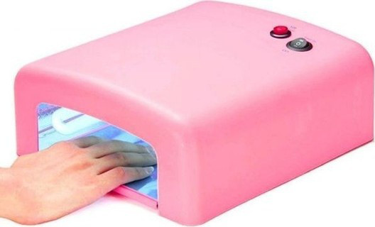 УФ Лампа для сушки ногтей лака 36Вт таймер + 4 лампочки