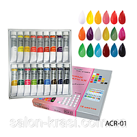 ACR-01 Набор акриловых красок Lady-Victory 18 цветов