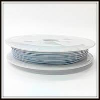 Ланка (ювелирный тросик) диам. 0,38 мм цвет белый (10 шт)