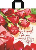 Пакет петля 40*42 Розы
