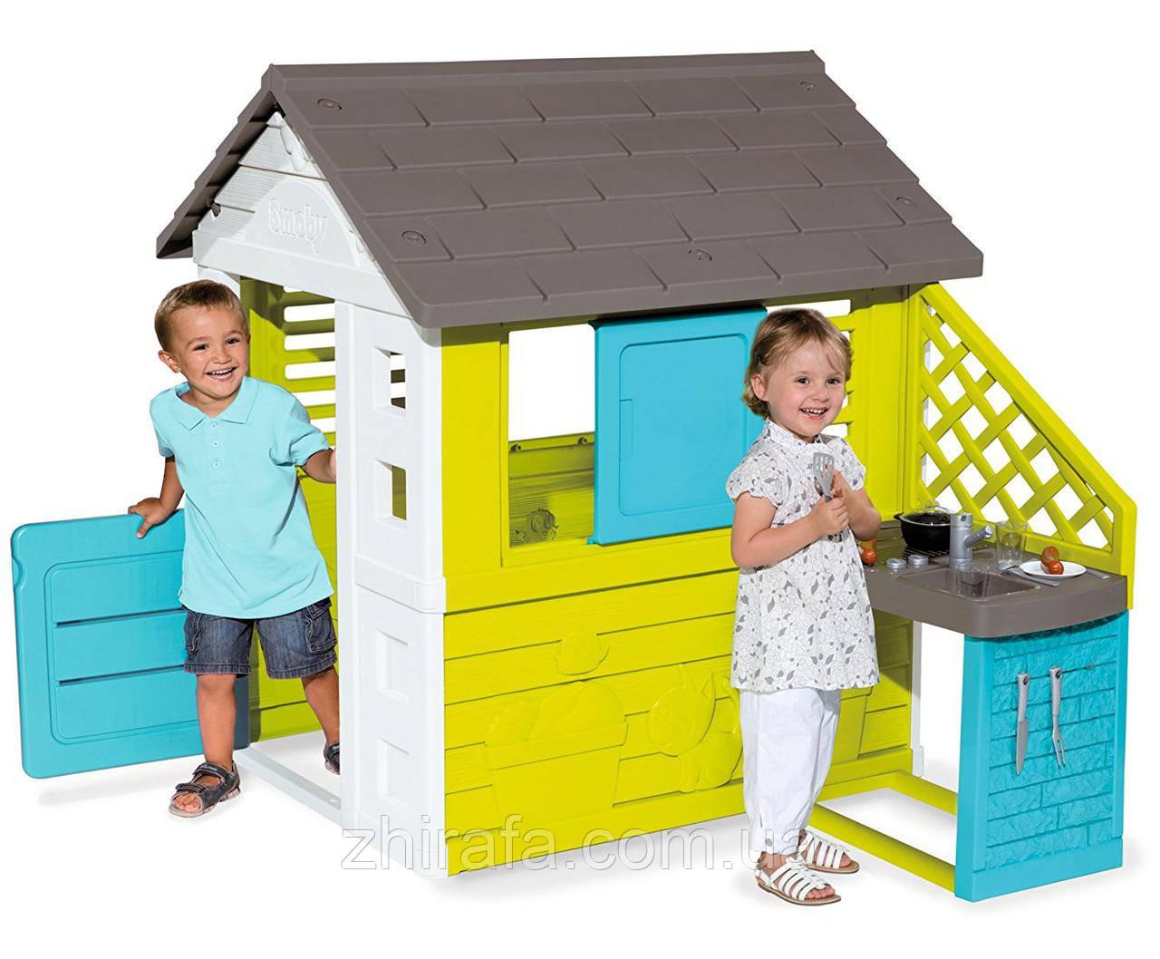 Игровой детский домик с кухней Smoby Pretty UV 810703